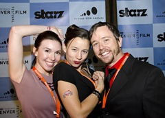 Shannon, Daniel and Erika on the Red Carpet oening night