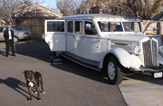 1936 White Limo :: Luther and Driver